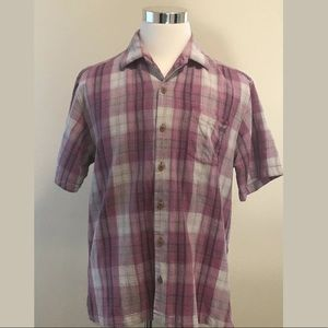 Tommy Bahama Silk Plaid Camp Shirt